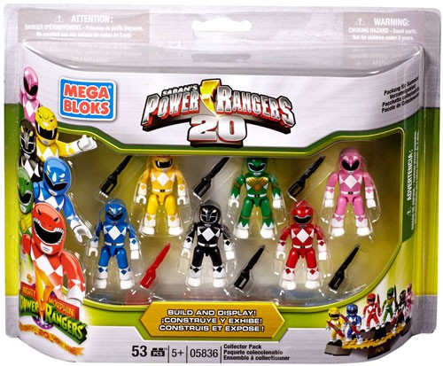 Mega Bloks 20th Anniversary Power Rangers Collector 6-Pack Set #5836 [Damaged Package]