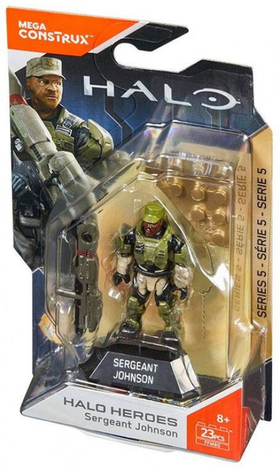 Halo Heroes Series 5 Seargeant Johnson Mini Figure