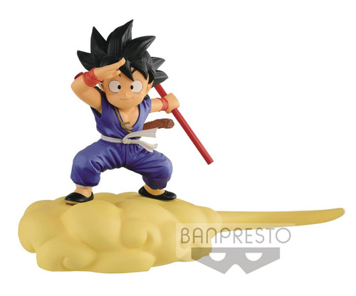 Dragon Ball Young Son Goku on Nimbus 5-Inch Collectible PVC Figure [Blue Outfit]