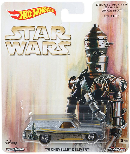Hot Wheels Star Wars Bounty Hunter Series '70 Chevelle Delivery Die-Cast Car [IG-88]