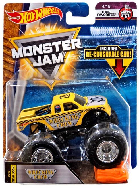 Hot Wheels Monster Jam 25 Wrecking Crew Die-Cast Car #4/19 [Tour Favorites]