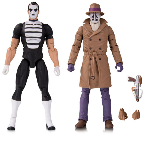 DC Watchmen Doomsday Clock Rorschach & Mime Action Figure 2-Pack