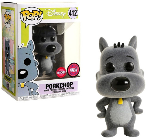 Funko Doug POP! Disney Porkchop Vinyl Figure #412 [Flocked, Chase Version]
