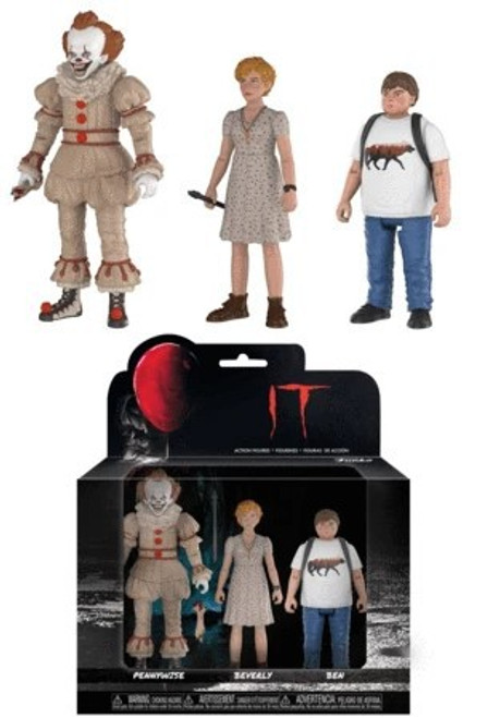 Funko IT Movie (2017) Pennywise, Beverly & Ben Action Figure 3-Pack