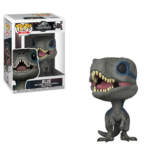 Funko Jurassic World Fallen Kingdom POP! Movies Blue Vinyl Figure #586 [New Pose]