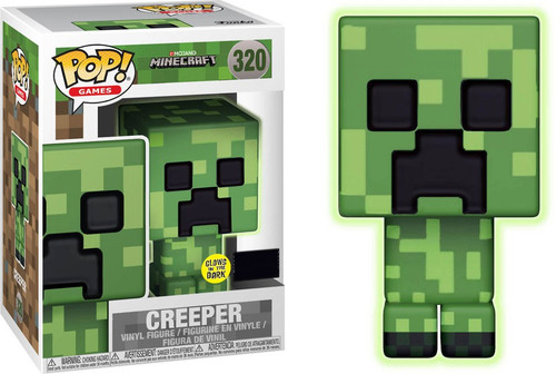 Funko Minecraft POP! Video Games Creeper Exclusive Vinyl Figure #320 [Glow-in-the-Dark]