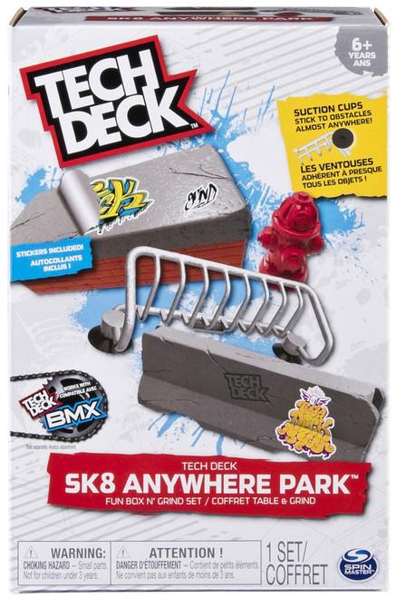 Tech Deck Sk8 Anywhere Park Fun Box N' Grind Set Exclusive