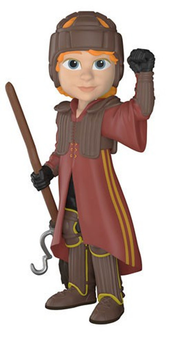 Funko Harry Potter Rock Candy Ron in Quidditch Uniform Vinyl Figure