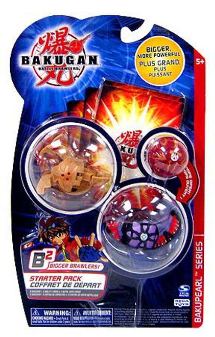 Bakugan B2 Bigger Brawlers BakuPearl Series Starter Pack BakuPearl Series 3-Figure Set [3 RANDOM Figures & 6 Cards]