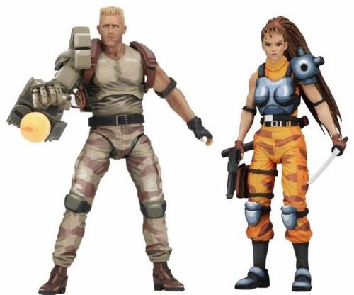 NECA Alien vs Predator Arcade Game Dutch & Lin Action Figure 2-Pack
