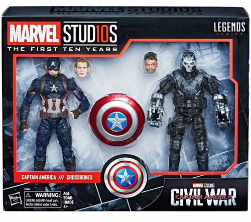 Avengers: Civil War Marvel Studios: The First Ten Years Marvel Legends Captain America vs. Crossbones Action Figure 2-Pack