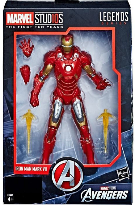 Avengers Marvel Studios: The First Ten Years Marvel Legends Iron Man Mark VII Action Figure