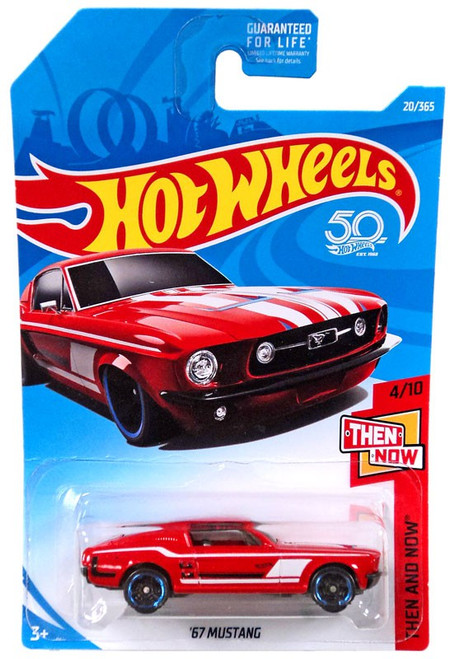 Hot Wheels 50th Anniversary Then and Now '67 Mustang Diecast Car FJX91 [4/10]
