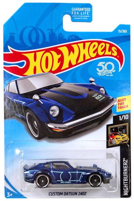 Hot Wheels 50th Anniversary Nightburnerz Custom Datsun 240Z Die-Cast Car #1/10 [Dark Blue]