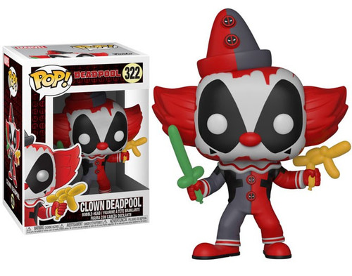Funko POP! Marvel Clown Deadpool Vinyl Bobble Head #322