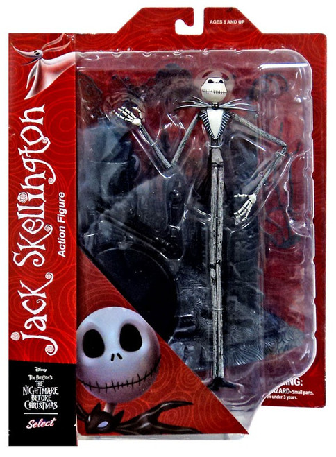 Nightmare Before Christmas Select Series 1 Jack Skellington Action Figure [Damaged Package]