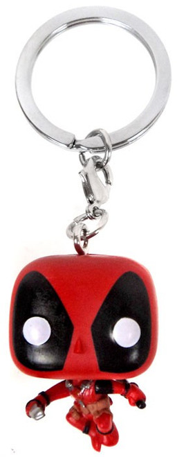 Funko POP! Marvel Leaping Deadpool Keychain [with Two Swords Loose]