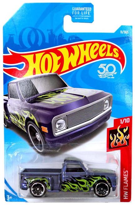 Hot Wheels HW Flames Custom '69 Chevy Pickup Die-Cast Car FJW60 [1/10]