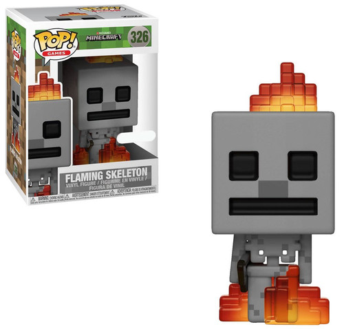 Funko Minecraft POP! Video Games Flaming Skeleton Exclusive Vinyl Figure #326