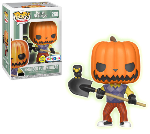 Funko Hello Neighbor POP! Games Neighbor Pumpkinhead Exclusive Vinyl Figure #266 [Glow-in-the-Dark]