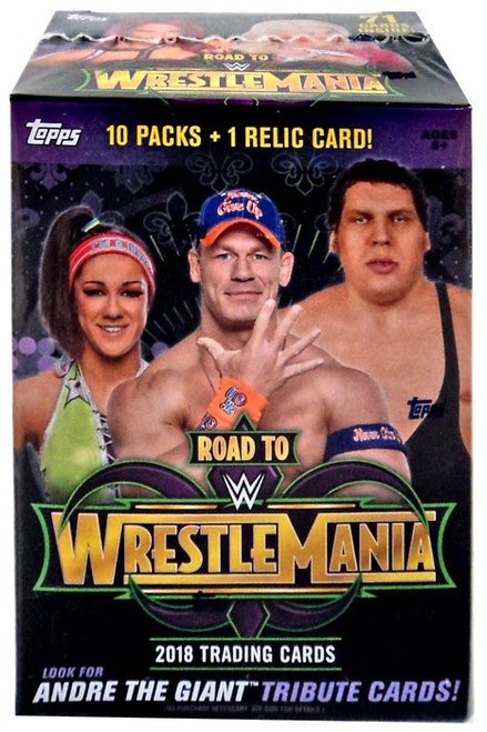 WWE Wrestling Topps 2018 Road to WrestleMania Trading Card BLASTER Box [10 Packs & 1 Relic Card]