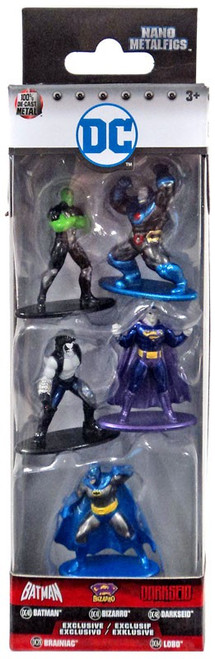 DC Nano Metalfigs Batman, Bizarro, Darkseid, Brainiac & Lobo 1.5-Inch Diecast Figure 5-Pack