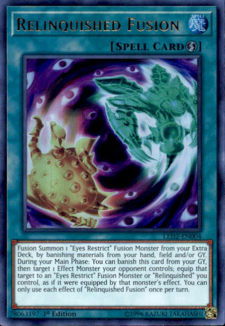 YuGiOh Legendary Duelists: Ancient Millennium Ultra Rare Relinquished Fusion LED2-EN004