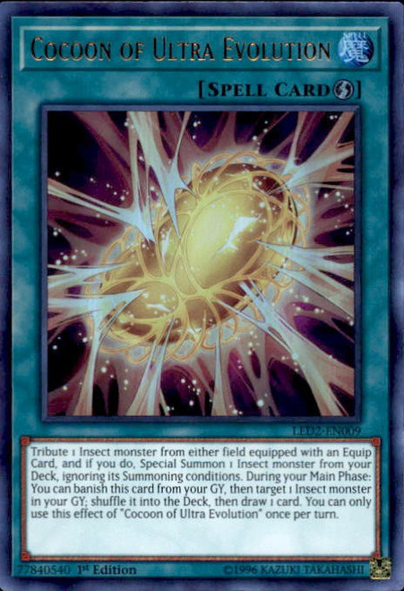 YuGiOh Legendary Duelists: Ancient Millennium Ultra Rare Cocoon of Ultra Evolution LED2-EN009