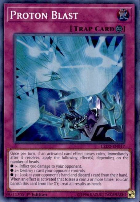 YuGiOh Legendary Duelists: Ancient Millennium Super Rare Proton Blast LED2-EN017