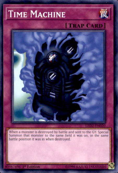 YuGiOh Legendary Duelists: Ancient Millennium Common Time Machine LED2-EN020