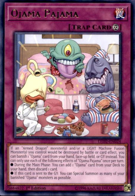 YuGiOh Legendary Duelists: Ancient Millennium Rare Ojama Pajama LED2-EN024