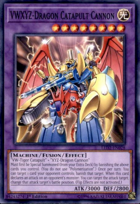 YuGiOh Legendary Duelists: Ancient Millennium Common VWXYZ-Dragon Catapult Cannon LED2-EN028