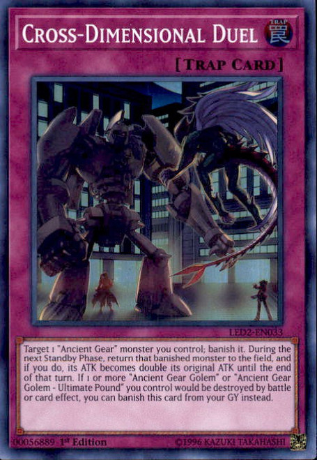 YuGiOh Legendary Duelists: Ancient Millennium Super Rare Cross-Dimensional Duel LED2-EN033