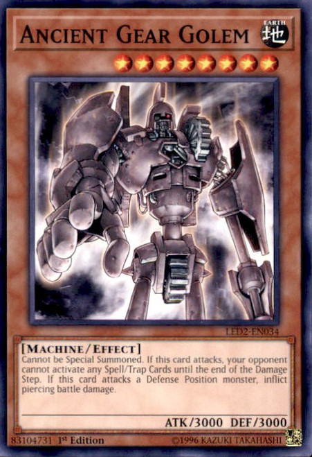 YuGiOh Legendary Duelists: Ancient Millennium Common Ancient Gear Golem LED2-EN034