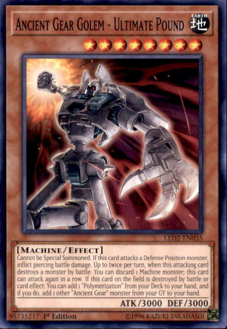 YuGiOh Legendary Duelists: Ancient Millennium Common Ancient Gear Golem - Ultimate Pound LED2-EN035