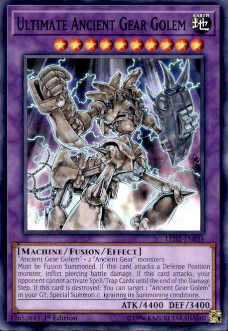 YuGiOh Legendary Duelists: Ancient Millennium Common Ultimate Ancient Gear Golem LED2-EN036