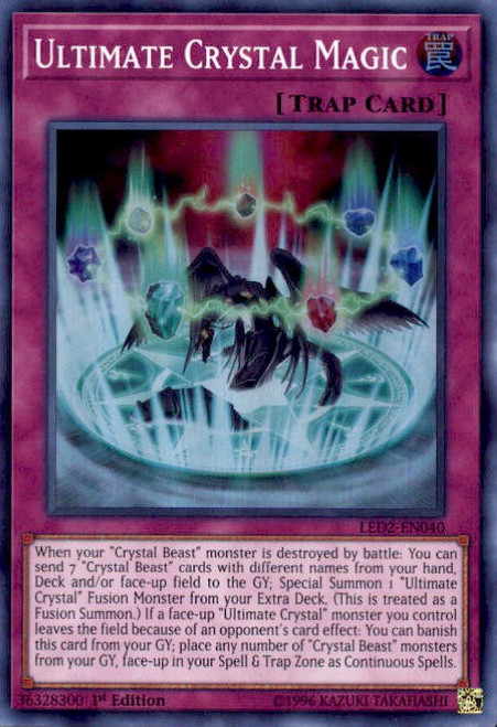 YuGiOh Legendary Duelists: Ancient Millennium Super Rare Ultimate Crystal Magic LED2-EN040