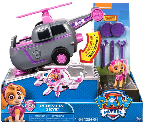 Paw Patrol Flip & Fly Skye Vehicle & Figure