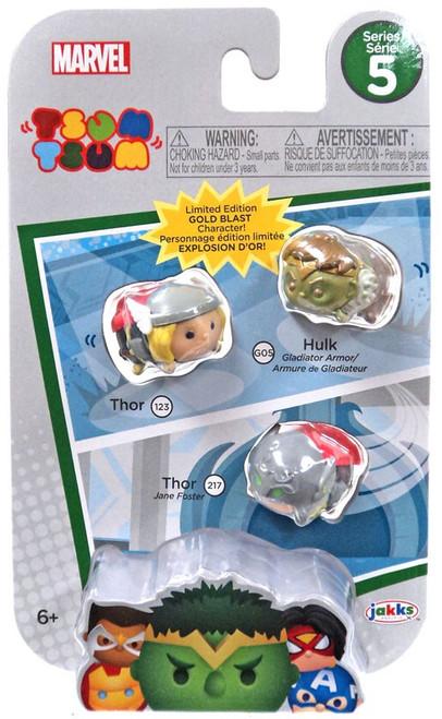 Marvel Tsum Tsum Series 5 Thor, Hulk & Thor (Jane Foster) 1-Inch Minifigure 3-Pack