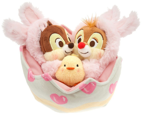 Disney 2018 Easter Chip 'n Dale Plush Easter Basket Set Exclusive 6-Inch Plush