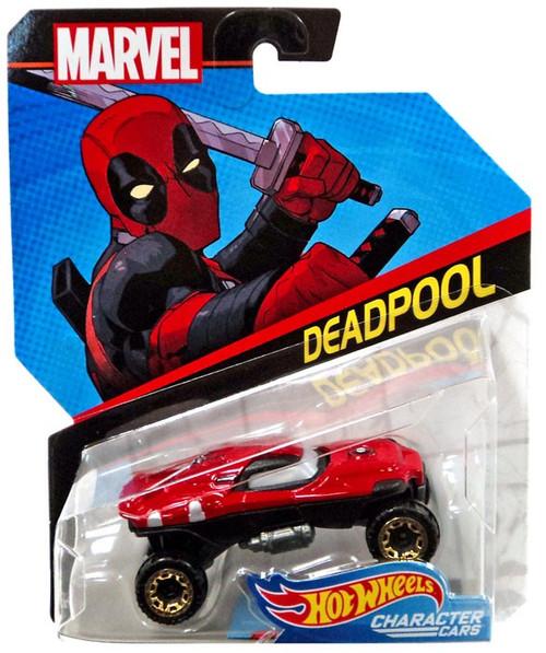 Hot Wheels Marvel Character Cars Deadpool Die-Cast Car