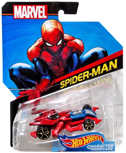 Hot Wheels Marvel Character Cars Spider-Man Die-Cast Car