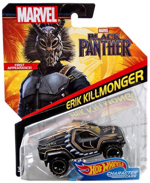 Hot Wheels Black Panther Character Cars Erik Killmonter Diecast Car