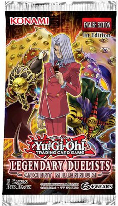 YuGiOh Trading Card Game Legendary Duelists Ancient Millennium Booster Pack [5 Cards]