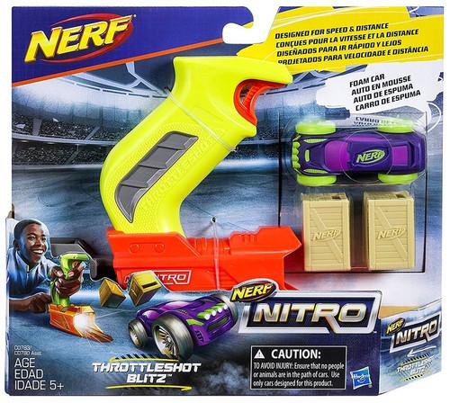 NERF Nitro Trottleshot Blitz Car & Launcher [Purple & Yellow]