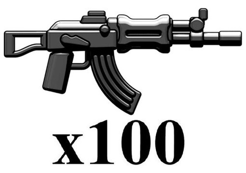 BrickArms Lot of 100 AK-APOC 2.5-Inch [Black]