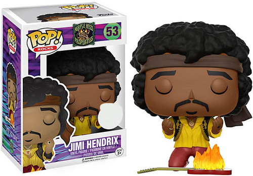 Funko POP! Rocks Jimi Hendrix Exclusive Vinyl Figure #53 [Yellow Shirt, Guitar On Fire, Damaged Package]