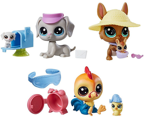 Littlest Pet Shop 2018 Pet Pairs Weimarans, Kangarooneys & Chickenclucks Figure 2-Pack [Bundle 2]