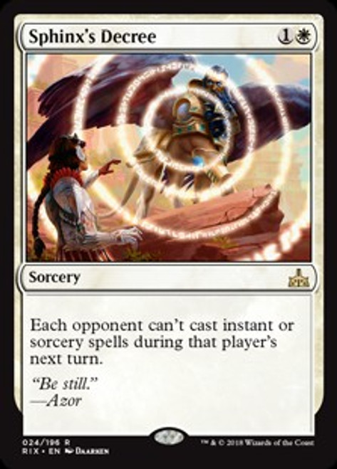 MtG Rivals of Ixalan Rare Sphinx's Decree #24