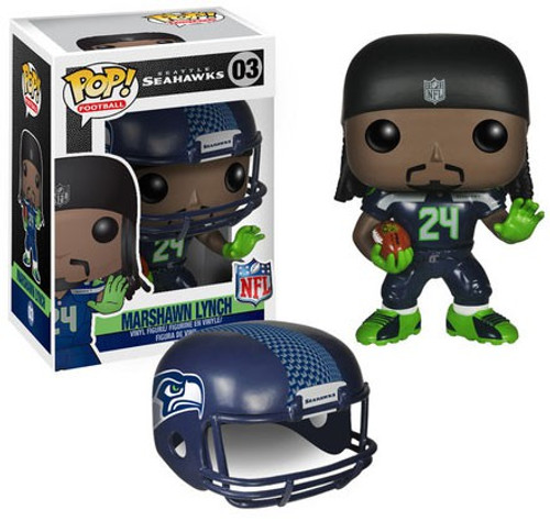 Funko NFL Seattle Seahawks POP! Sports Football Marshawn Lynch Vinyl Figure #03 [Black Jersey, Damaged Package]